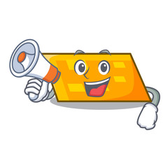 With megaphone parallelogram character cartoon style