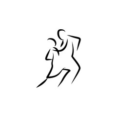 dancer icon. Element of dance icon for mobile concept and web apps. Thin line dancer icon can be used for web and mobile