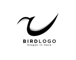 A letter bird logo, a logo type eagle bird, eagle bird A logo