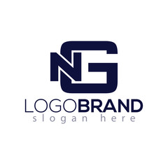 N G Initial Letter Logo vector element. Initial Logo template