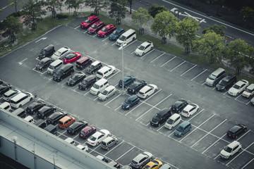 駐車場の風景