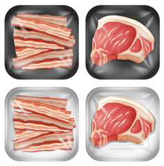 A Set of Bacon and Meat
