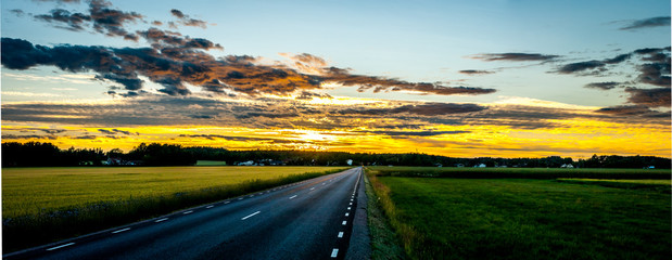 Sun goes down very late in Swedish summer time.