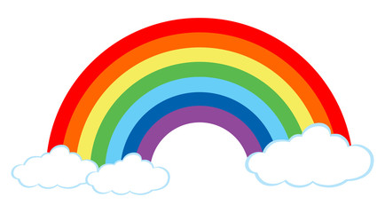 A Beautiful Rainbow on White Background