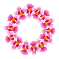 Pink Vanda Miss Joaquim Orchid Wreath