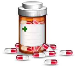 Container of medicine capsules