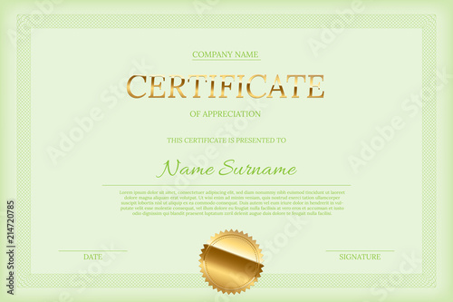 vector certificate design template golden certificate word with
