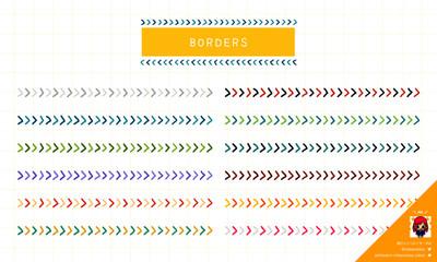 シンプル矢印モチーフの手描き罫線
