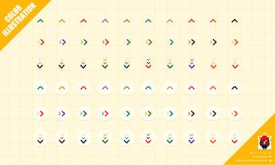 シンプルな矢印のWEBパーツアイコン