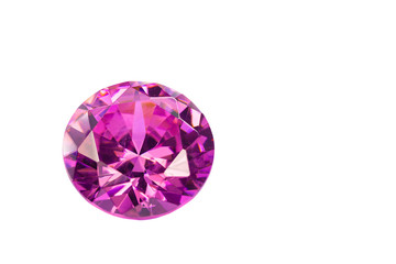 Wall Mural - .amethyst  diamonds on the white background with clipping path