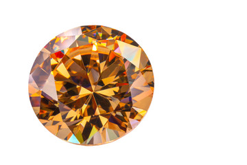 Wall Mural - Yellow sapphire diamonds on the white background with clipping path
