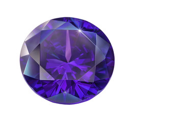 Wall Mural - .Blue Sapphire diamonds on the white background with clipping path