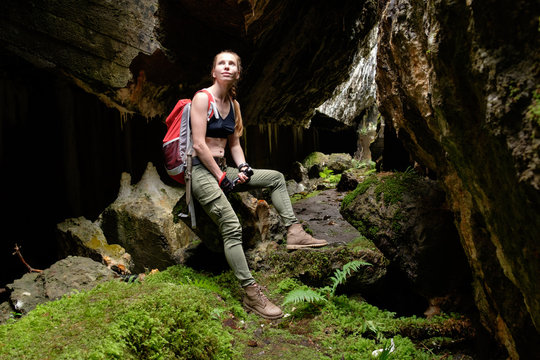 explore ancient fortress cave