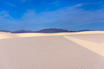 Landscape view of White Sands National monument, New Mexico