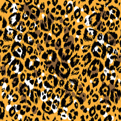 Seamless Textured animal pattern
