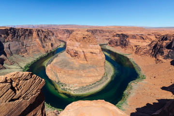 Horseshoe Bend, meander of Colorado River located near Page, Arizona, USA