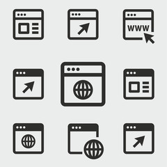 Browser vector icons set.