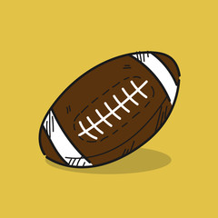 American Football illustration on color background