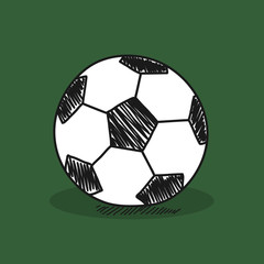 Football illustration on color background