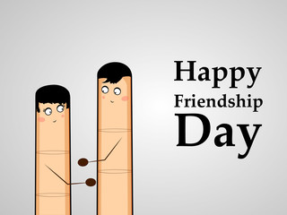 Illustration of Friendship Day background