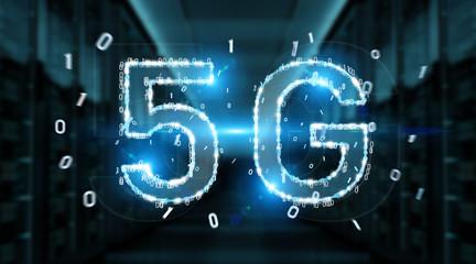 5G network digital hologram 3D rendering