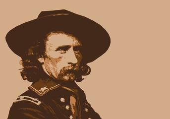 Général Custer - portrait - personnage - historique - célèbre - américain - militaire - guerre de Sécession