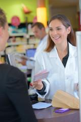 giving back the prescription