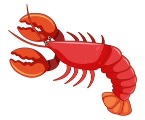 A large red lobster