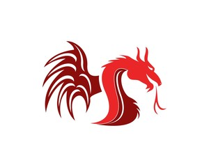 Dragon head logo design vector illustration