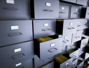 Fototapeta Filing cabinet