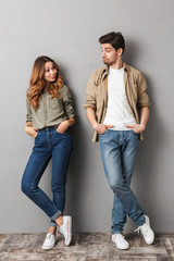 Full length portrait of a cute young couple