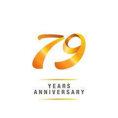 79 years golden anniversary celebration logo , isolated on white background