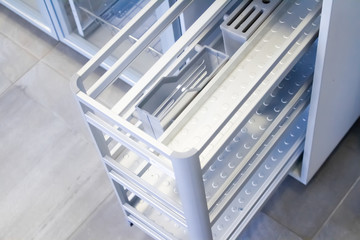 Organizers for kitchen utensils. Furniture accessories. Built in equipment.