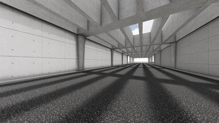 Modern road tunnel. 3D Rendering