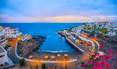 Puerto de Santiago region of Tenerife, at sunset. Europe - Spain