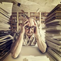 stressed student portrait