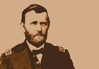 Général Grant - Portrait - personnage - historique - célèbre - américain - président des États Unis