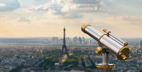 paris skyline with Telescope view