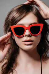 woman in pin-up sunglasses