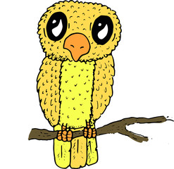 Hand Drawn Doodle Sketch Vector of a Bird Chick