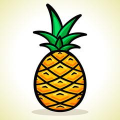 Vector illustration of pineapple design
