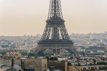 Paris Eiffel Tower at sunset, france