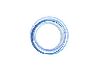 Blue circle sphere round circular rings abstract logo symbol icon design vector