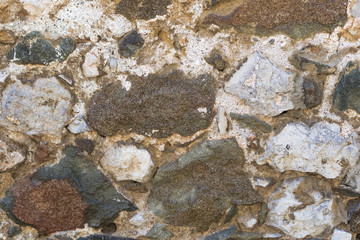 Abstract stone wall background from large stones