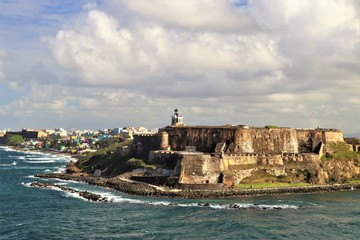 Printed kitchen splashbacks Fortification San Felipe del Morro fort in San Juan Puerto Rico