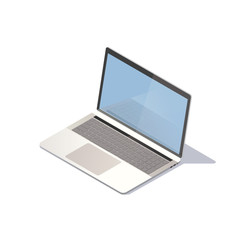 Isometric laptop on white background. Vector illustration.