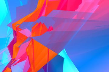 Digital background, vibrant colorful pattern Fotoväggar