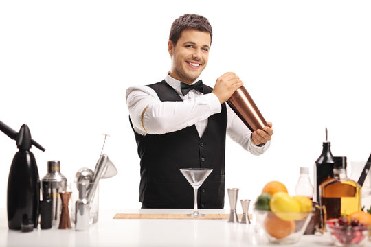 Barman with a shaker