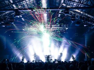 Concert venue fireworks
