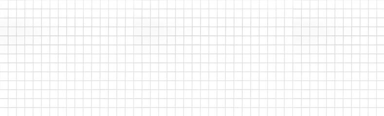 Panorama of White mosaic pattern and seamless background